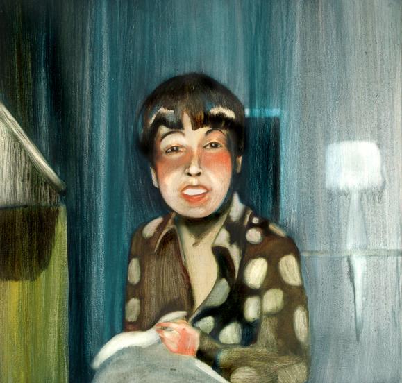 A la tombée du jour, 50 cm x 50 cm, huile sur toile, 2013, Paris, peinture contemporaine, portrai thocney, davidsalle, ericfischl, fauve