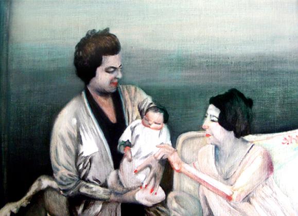 C'est la vie, 25 cm x 16 cm, huile sur toile, 2013, Paris, peinture contemporaine, portrait hocney, davidsalle, ericfischl, fauve 2