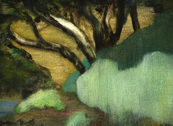 Dans l'oued asséché, détail 105 cm x 76 cm, huile sur toile, 2013, Paris, peinture contemporaine, portrait hocney, davidsalle, ericfischl, fauve