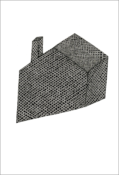 """""""Hépigone house"""", encre de Chine sur papier, 14 cm x 21 cm, 2007"""