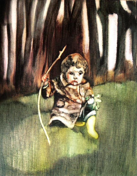 La branche de noisetier, 50 cm x 36 cm, huile sur toile, 2013, Paris, peinture contemporaine, portrait hocney, davidsalle, ericfischl, fauve