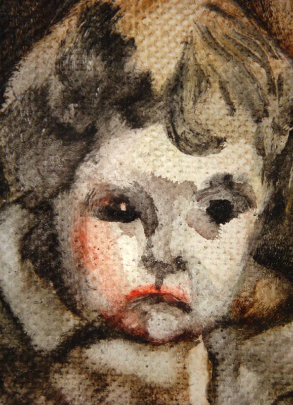 La branche de noisetier, détail 50 cm x 36 cm, huile sur toile, 2013, Paris, peinture contemporaine, portrait hocney, davidsalle, ericfischl, fauve