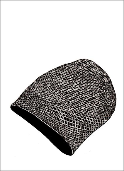 """""""Le bonnet danois"""", encre de Chine sur papier, 14 cm x 21 cm, 2009, Paris"""