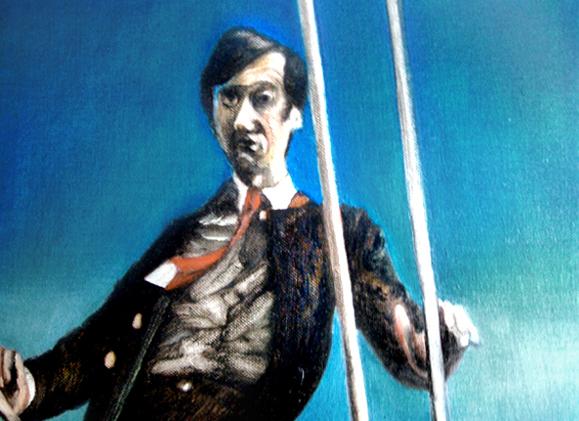 Le ciel est bleu, 105 cm x 76 cm, huile sur toile, 2013, Paris, peinture contemporaine, portrait hocney, davidsalle, ericfischl, fauve