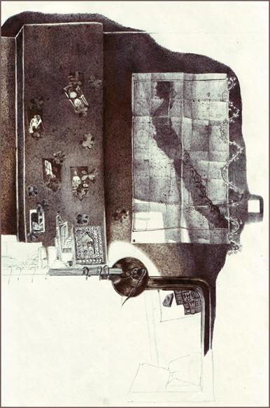 """Le grand nuage"", dessin au stylo, 21 cm x 29,7 cm, 2008"