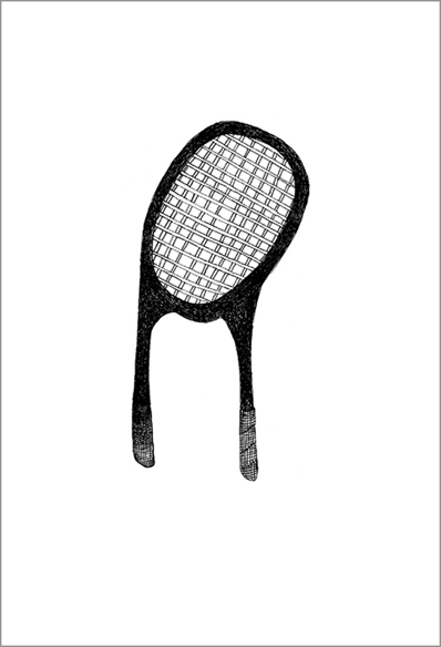 """""""Le miroir"""", encre de Chine sur papier, 14 cm x 21 cm, 2007"""