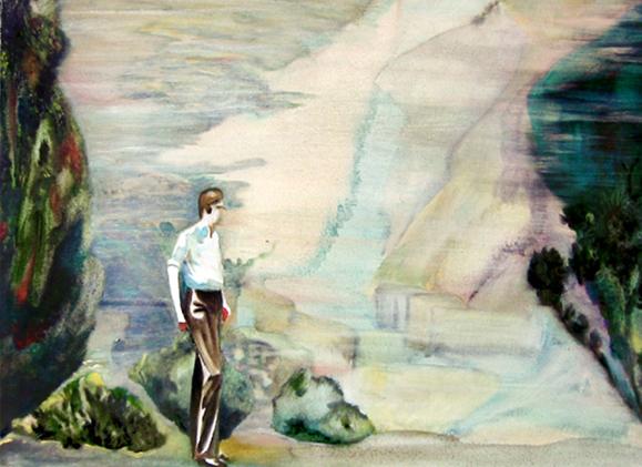 Le papillon, 105 cm x 76 cm, huile sur toile, 2013, Paris, peinture contemporaine, portrait hocney, davidsalle, ericfischl, fauve