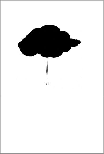 """""""Le parapluie"""", encre de Chine sur papier, 14 cm x 21 cm, 2007"""
