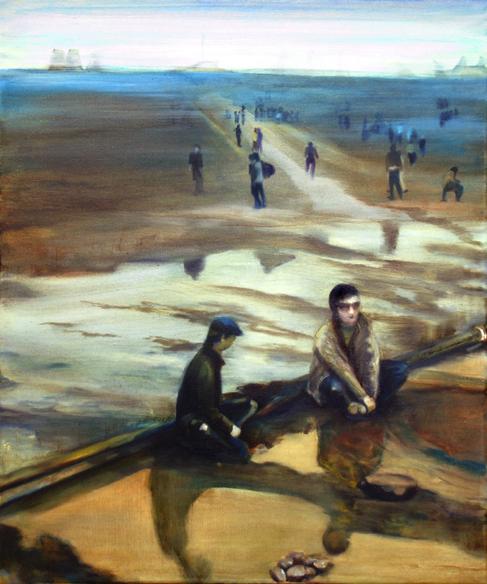 Le pipeline 45 cm x 65 cm, huile sur toile, 2012, ParisW