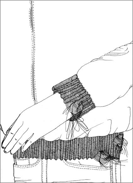"""""""Le vieux hoody"""", encre de Chine sur papier, 14 cm x 21 cm, 2009, Paris"""