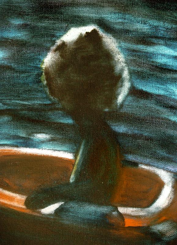 L'horizon perdu, 50 cm x 50 cm, huile sur toile, 2013, Paris, peinture contemporaine, portrait hocney, davidsalle, ericfischl, fauve