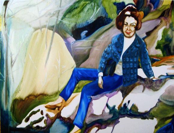 """""""Marie-Thérèse a fait le vide à Fontainebleau en 1965"""", 40 cm x 32 cm, huile sur toile, 2010, Paris"""
