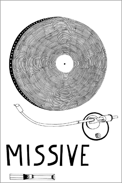 """""""Missive"""" - De l' hotel Hi, encre de chine sur papier - 21 cm x 14,85 cm - 2006, Nice"""