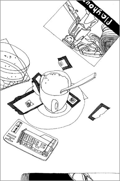 """""""Playhouse"""" - De l'hotel Hi, encre de chine sur papier - 21 cm x 14,85 cm, 2006, Nice"""
