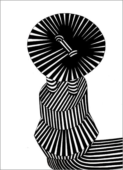 """""""Soliloque, conservation n°9"""", encre sur papier, 56 cm x 56 cm, 2006"""