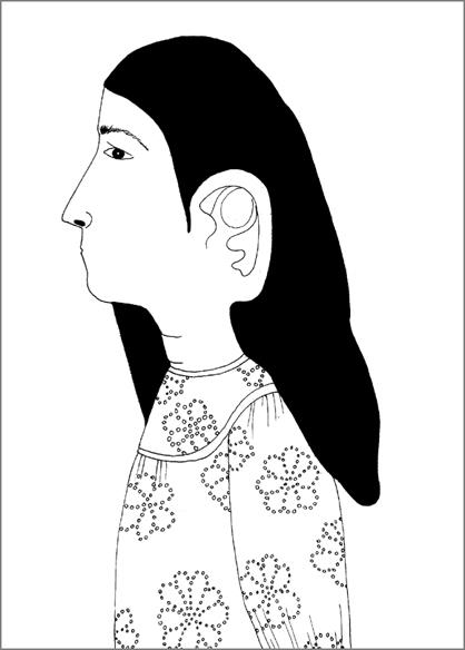 """""""Sonore"""", encre de Chine sur papier, 14 cm x 21 cm, 2009, Paris"""