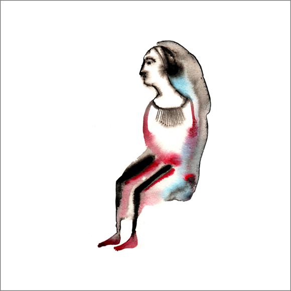 """""""Sous le vent"""", aquarelle, 30 cm x 30 cm, 2009, Paris"""