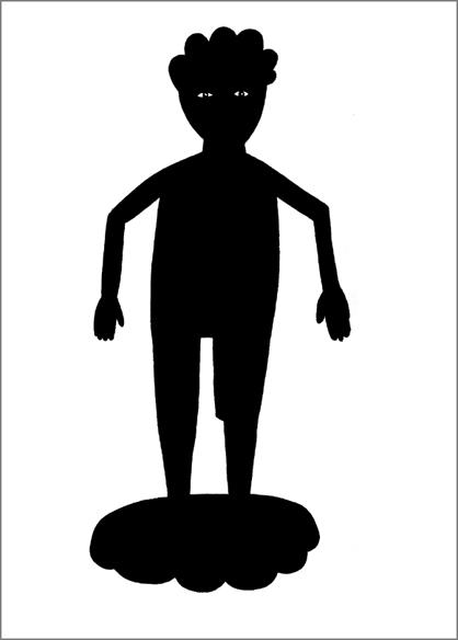 """""""Vénus à la jambe de bois"""", encre de Chine sur papier, 14 cm x 21 cm, 2009, Paris"""