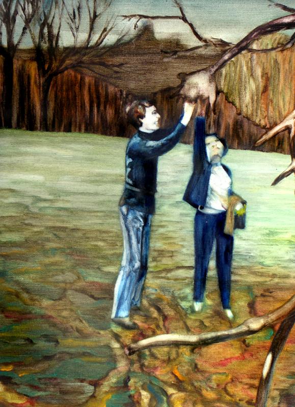 Volts, 50 cm x 36 cm, huile sur toile, 2013, Paris, peinture contemporaine, portrait hocney, davidsalle, ericfischl, fauve
