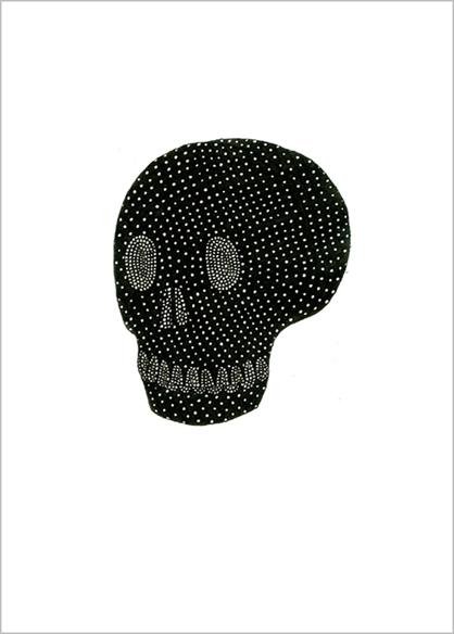"""""""La tête de mémory"""", encre de Chine sur papier, 14 cm x 21 cm, 2009, Paris"""
