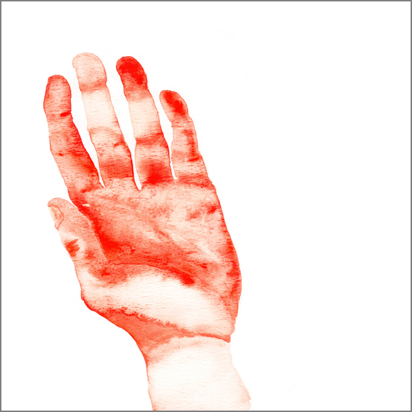 """ The hand"", aquarelle, 30 cm x 30 cm, 2007, Paris"