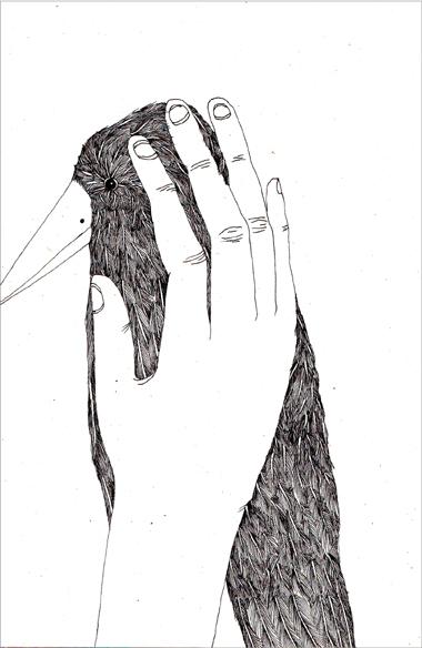 """""""Joli"""", encre de Chine sur papier, 14 cm x 21 cm, 2009, Paris"""