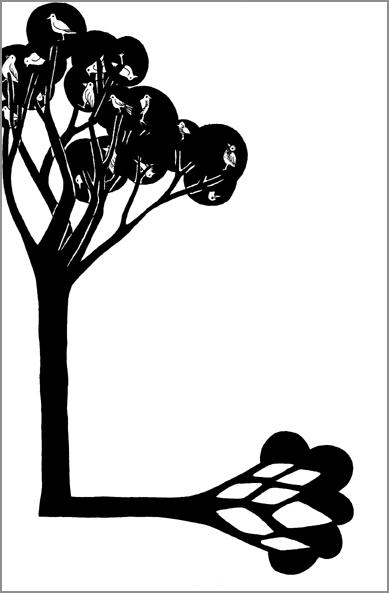 """""""L'arbre à raison"""", encre de Chine sur papier, 14 cm x 21 cm, 2009, Paris"""