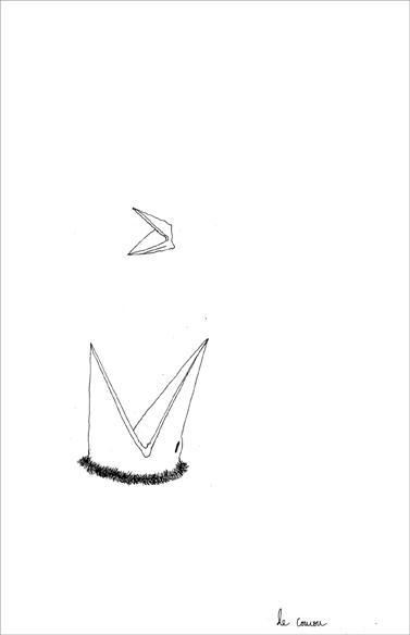 """""""Le coucou"""", encre de Chine sur papier, 14 cm x 21 cm, 2009"""