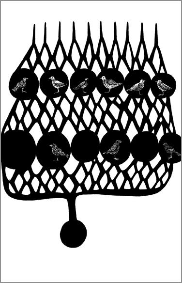 """""""Le diapason"""", encre de Chine sur papier, 14 cm x 21 cm, 2009, Paris"""